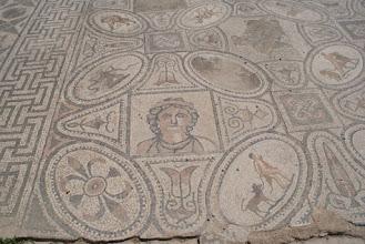 Photo: Roman mosaic tiles in Volubilis, Morocco