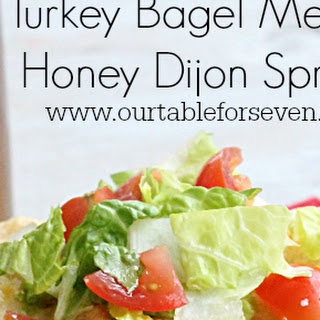 Turkey Bagel Melt with Honey Dijon Spread