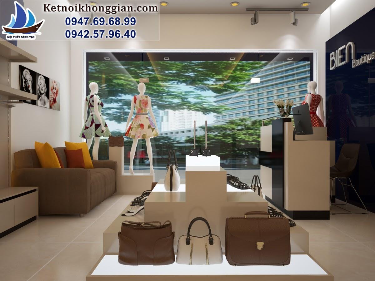 thiết kế shop thời trang nữ trẻ trung hiện đại