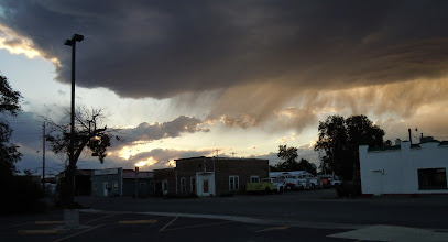Photo: In Greybull, pretty sunset effects. Is that dust?
