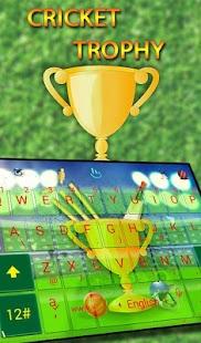 Cricket Trophy Keyboard Theme - náhled