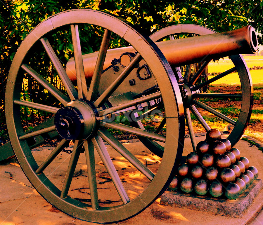 Mighty Cannon by Terry Ricks - Artistic Objects Other Objects ( canon, civil war, civil, artistic objects, antique, war, antiques, cannon,  )