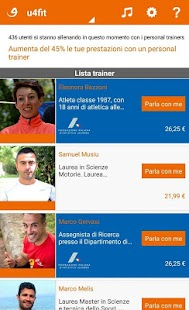 u4fit - Corsa Personal Trainer- miniatura screenshot