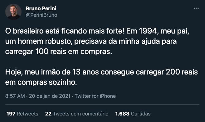 tweet de Bruno Perini