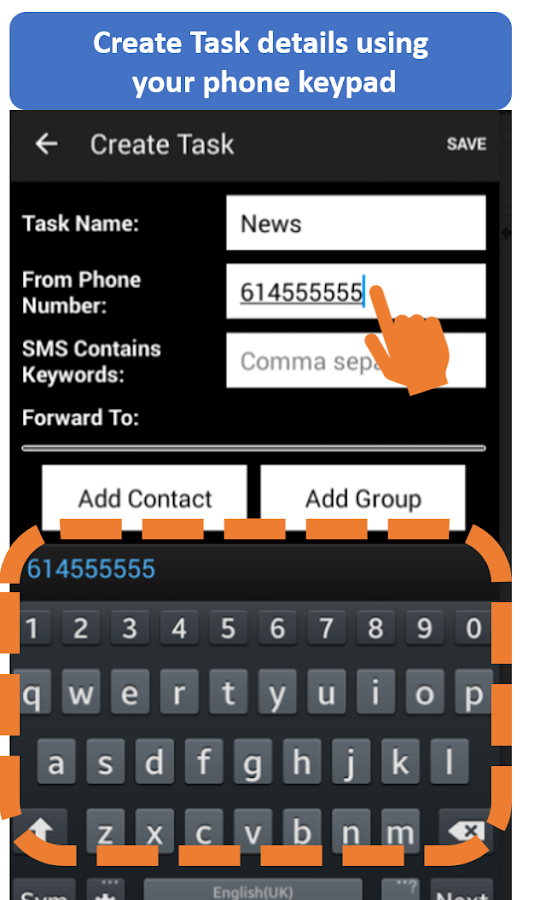 Auto Forward SMS- screenshot