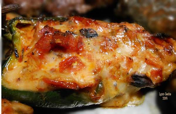 Grilled Poblano Pizza Boats Recipe