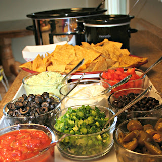 Super Bowl Nacho Bar.