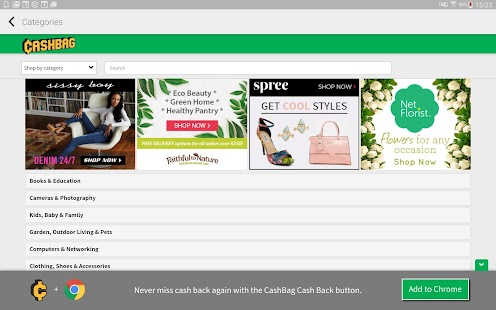 Cashbag. Earn cash as you shop- screenshot thumbnail