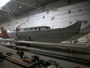 Photo: The hulls are painted in the hangar