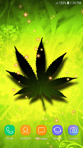 Falling Weed Live Wallpaper by Foka (Google Play, United States) - SearchMan App Data & Information