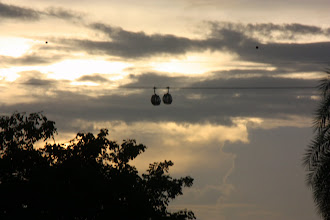 Photo: Year 2 Day 135 -  Cable Car Running to Sentosa Island