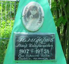 Photo: Гамаюров Макар Илларионович 1907-1958 ГАМАЮРОВ МАКАР ИЛЛАРИОНОВИЧ, 1907 г.р., русский, уроженец с. Биринск. Воевал, после войны вернулся домой. Скончался в 1958г. Похоронен в Новодевичье. http://xn--b1aafebr4aib8g9b.xn--p1ai/istoriya-sela/pamyatnaya-kniga-sela-novodevichya/