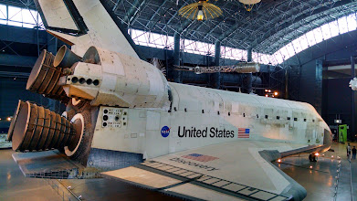 Photo: NASA's Space Shuttle Discovery on display in Chantilly, VA.