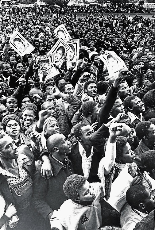 OUR TIME WILL COME: The funeral of Steve Biko, founder of the Black Consciousness Movement, in September 1977.