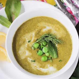 Velvety Green Vegetable Soup.