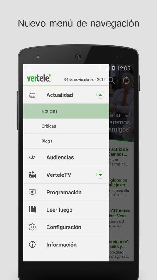 Vertele- screenshot