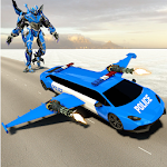Police Limo Robot Car Game : Real Flying Car icon