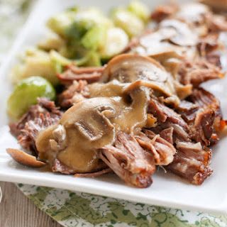 Low Carb {Pressure Cooker} Pork Roast with Cauliflower Gravy.