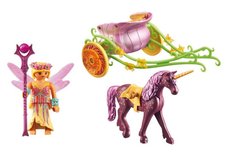 Contenido real de Playmobil® 9136 Hada Flor con Carro