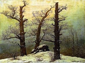 "Photo: Caspar David Friedrich, ""Dolmen sotto la neve"" (1807)"