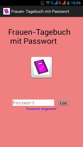 Frauen Tagebuch mit Passwort