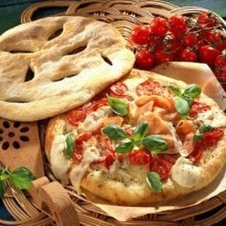 Deckel-Pizza mit Parmaschinken