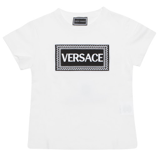 Primary image of Young Versace Logo Cotton T-shirt