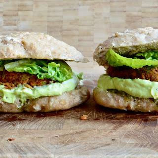 Vegetarian Burgers w/ avocado mash