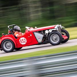1947 MG TC by Debbie Quick - Transportation Automobiles ( automobile, race track, debbie quick, race car, car, lime rock park, mg tc, 1947, debs creative images, transportation,  )