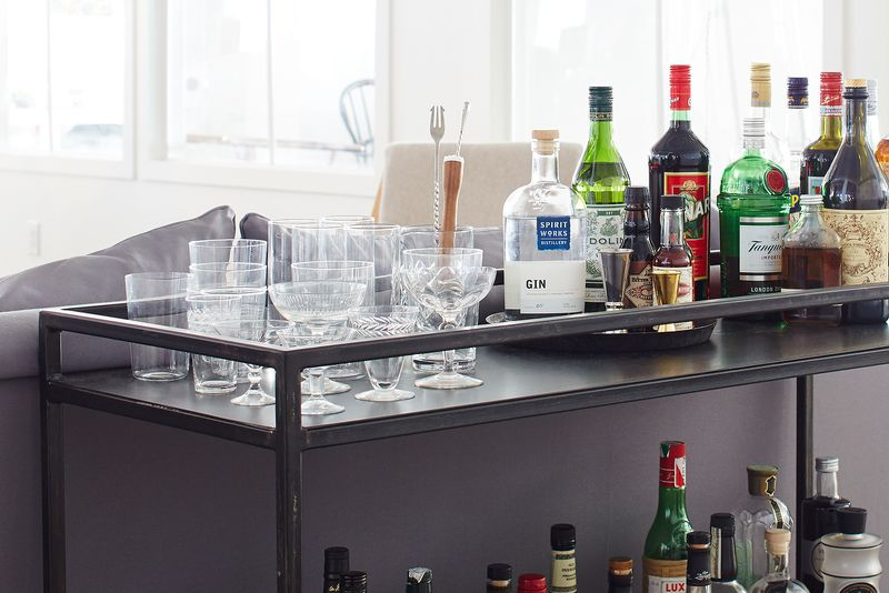 Stocking a bar cart's simple when you have a strategy