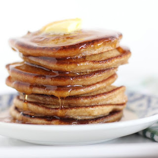 Light and Fluffy Whole Wheat Pancakes.