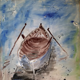 Boat by Anika McFarland - Painting All Painting ( art, painting, acrylic, boat painting, boat )