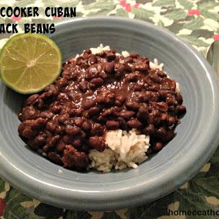Slow Cooker Cuban Black Beans.