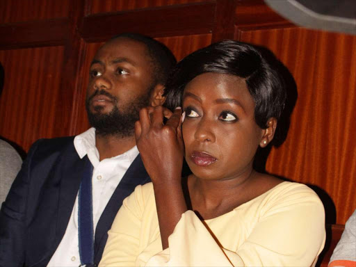 Jackie Maribe and Joseph Irungu, alias, Jowie at the Milimani law courts on October 17, 2018.