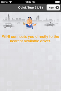 WINIcabs, on-demand cab hail- screenshot thumbnail
