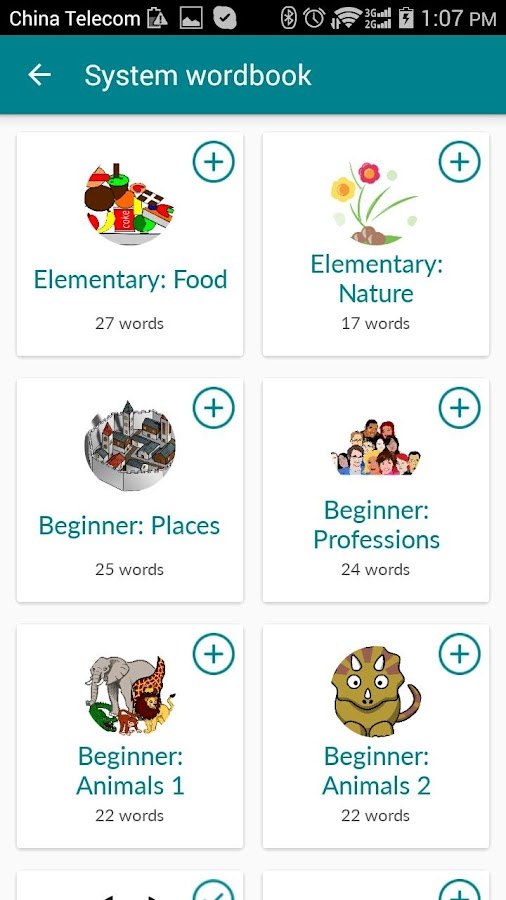 Lextend for learning languages- screenshot