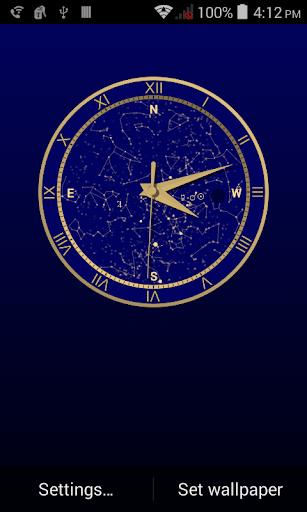 Sky Clock Wallpaper