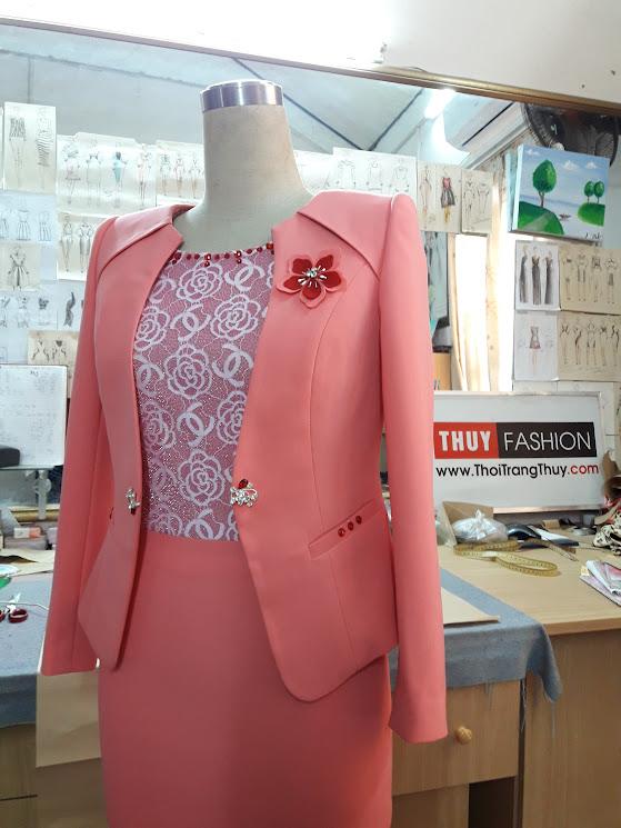 Áo vest nữ công sở nữ và váy ôm ren ép V375 thời trang thủy