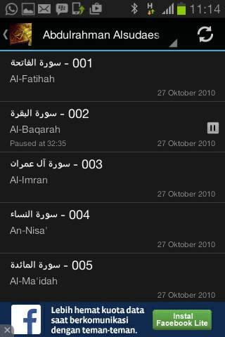 Murottal Al-Quran 30 Juzz Mp3