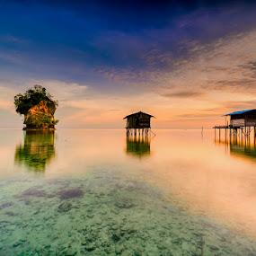 Fisherman's House by David Loarid - Landscapes Sunsets & Sunrises