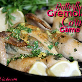 Butterflied Gremolata Cornish Game Hens