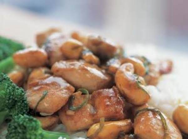 Asian Cashew Chicken With Broccoli