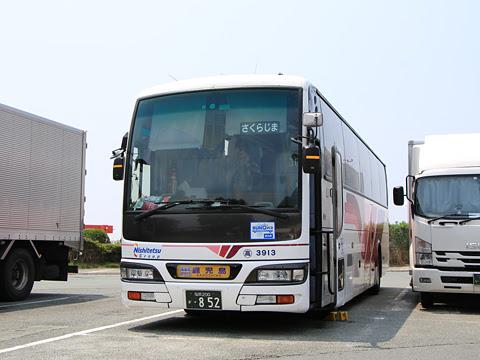 西鉄高速バス「桜島号」昼行便 3913 北熊本SAにて