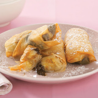 Banana-Chocolate Spring Rolls