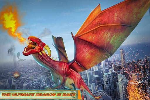 Flying Dragon Robot Car - Robot Transforming Games 2.5 screenshots 3