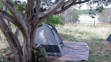 Photo: Slept on the tarp (instead of the tent) with a great view of the lake