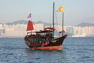 Photo: Day 195 -  A Junk in Victoria Harbour (Hong Kong)
