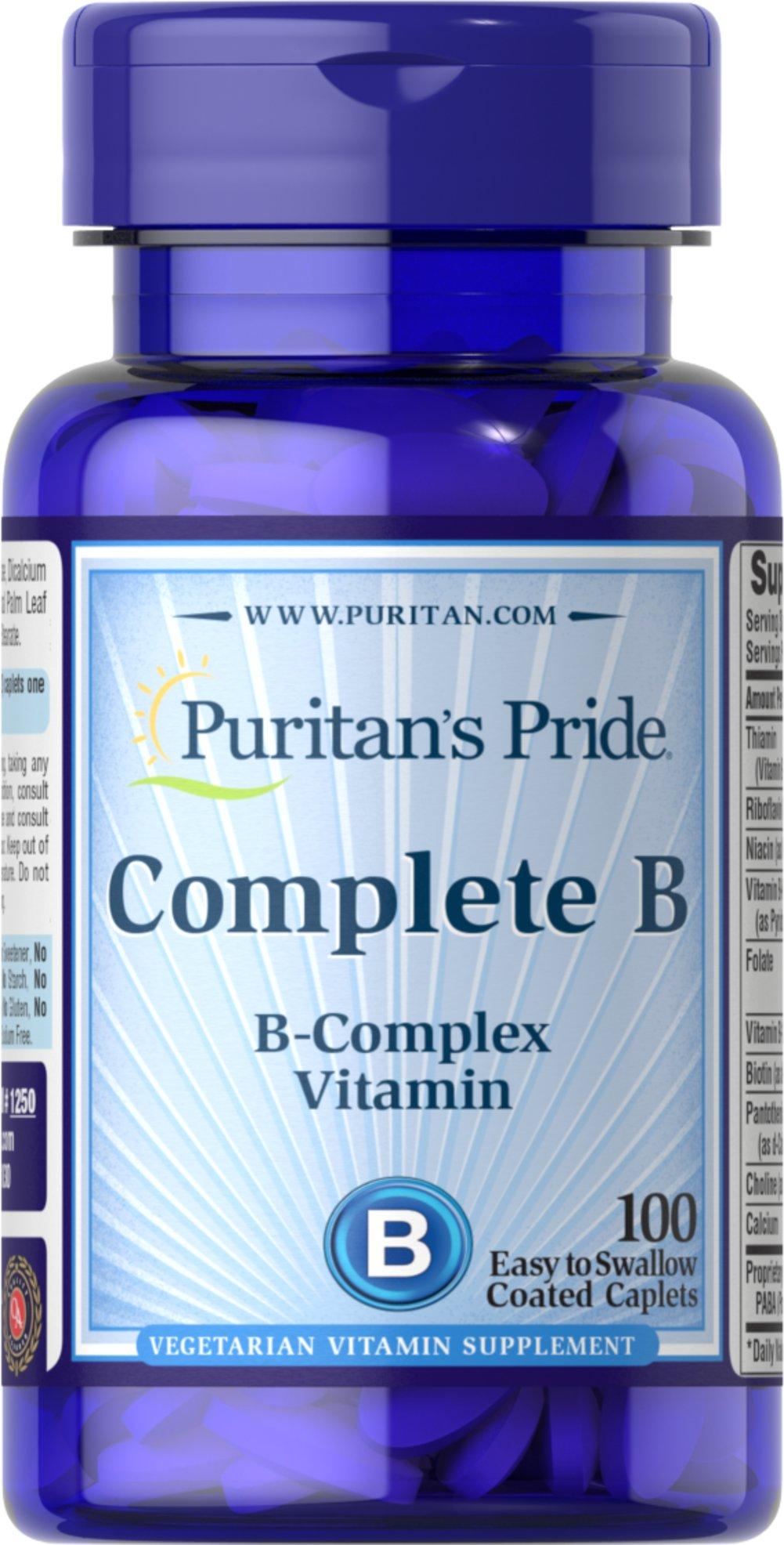 Puritan's Pride Complete B - B Complex Vitamins - Shop Journey