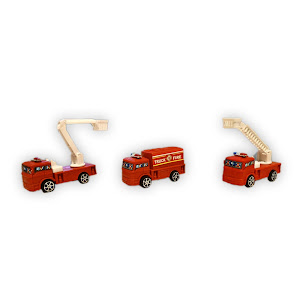 Statia de pompieri - Covor cu 3 masinute