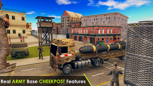 Army Truck Driving 3D Simulator Offroad Cargo Duty apkpoly screenshots 2